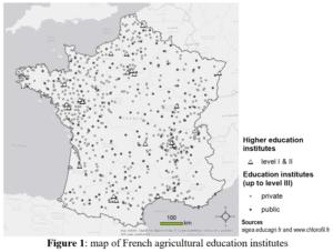 Carte de France des écoles agricoles