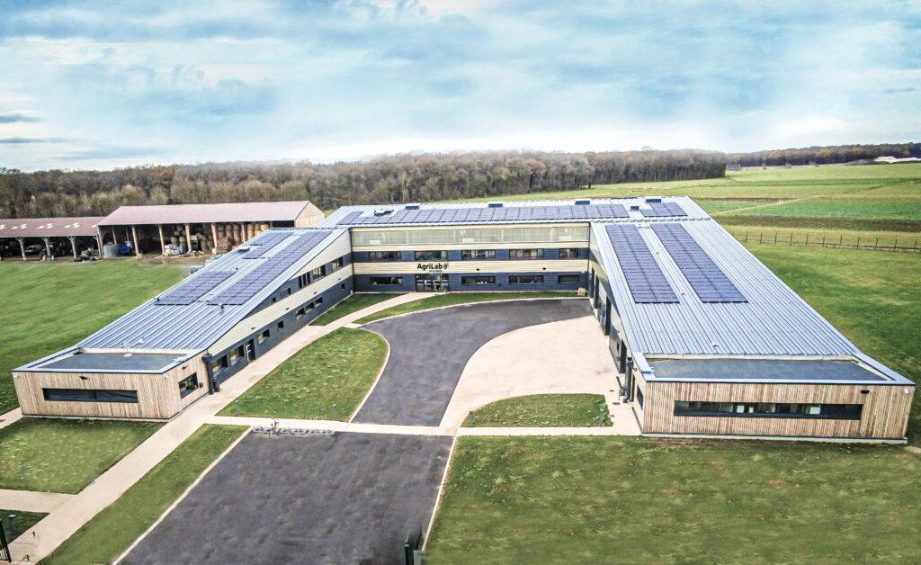 AgriLab bâtiment vu par drone